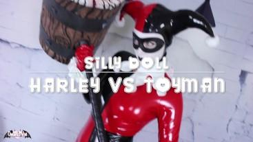 Harley Quinn VS ToyMan Silly Doll Bimbofication FULL VID OmankoVivi Clown
