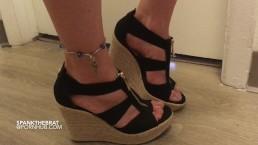 Chastity keyholder foot tease