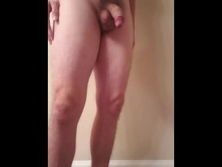 My Thick Penis Grows to It's Full Erect Size of 6.5 Inches (Vertical Cam.)