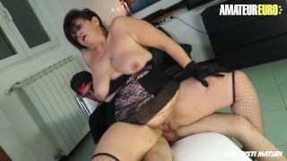 AmateurEuro Italian Mature Slut Drilled By a Young Cock