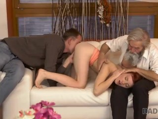 DADDY4K. Awesome old and young scene turns into crazy threesome