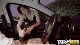 BANGBROS - Black Dude Flashing BBC At Random Girl On Street Receives Tugjob