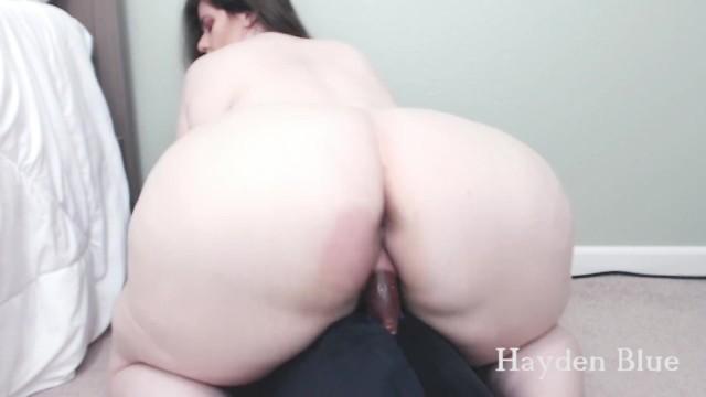 AMAZING big booty BBW girlfriend rides BBC dildo like a pro