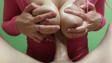 Titfuck With Russian Busty Teen / Cum In Huge Natural Boobs / Titjob Fetish