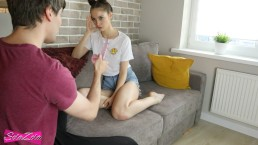 FULL!!! Caught step-sister while she masturbated - SolaZola