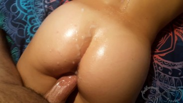 Using cum as lube to fuck her - Amateur FuckForeverEver