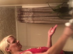 tight body milf SPY CAM on step mom naked after shower! more coming i hope!