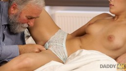 DADDY4K. Old and young porn action of Ria Sunn and her BFs father
