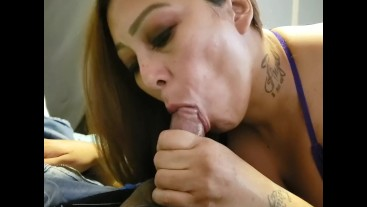 Sexy Latina Sucks and Titty Fucks for Cum on Tits
