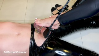 Slaves Chastity Is Removed And He Earns A Footjob   Little Foot Princess