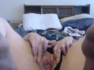 Creampie and teasing pussy to orgasm