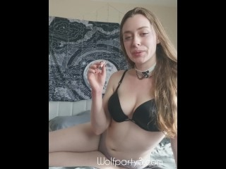 Dahlia Smokes a Joint and Cums