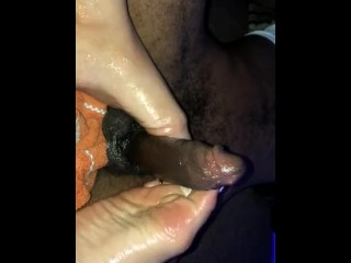 Oline Porn Movies Teasing Him With My Toes Makes Him Explode (Footjob), Amateur Interracial Teen