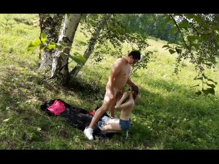 Romantic Babe Cute video: Romantic sex in the forest with a cute babe