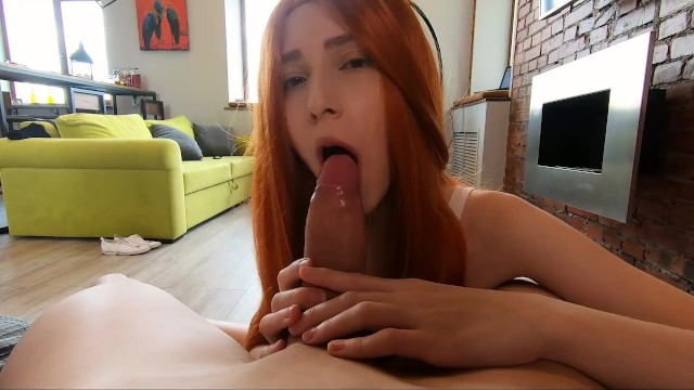 Eye contact with beautiful Elin Flame in POV blowjob