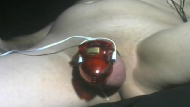 Electric shock sexual devices - Cumming from electric cock cage chastity torture device full video