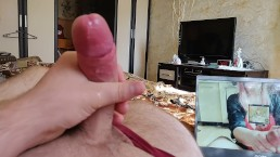 Watching porn with my GF and cumming loud
