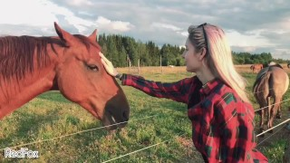 TAKE MY HORSE, PUBLIC AND FAST POV BJ on a sunny pasture by RedFox/Red Fox