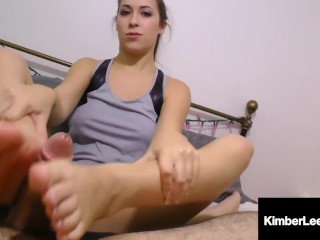Boot Babe Kimber Lee Uses Her Uggs To Stroke A Lucky Cock Kimber Lee