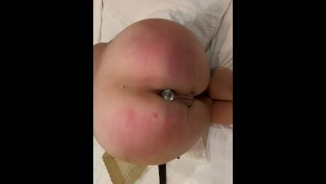 Deep throating and tit slapping for this white girl
