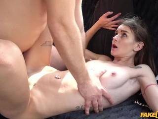 Scorpion Porno Fucking, Fake Taxi- Slim models backseat pleasure ride Brunette Cumshot Public Realit