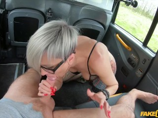 Runa Momose Fake Taxi - Tattooed MILF drains cabbies balls
