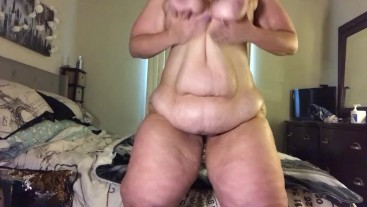 BBW Kourtney Cakes full body oiled up vibration