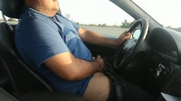 First time jacking off while driving in public, happy ending!!