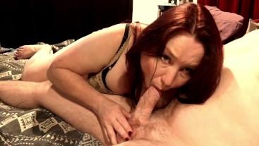 Hot Milf Blowjob With Nipple Play & Cum