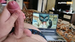 Open your mouth and swallow it all. Man Loud  moaning and cum