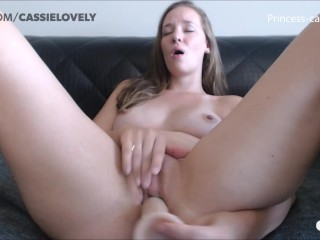 The Webcam Experience Presents Cute Camgirl Fucks Her Dildo | CAM4