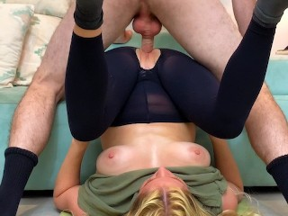 The Teen Pussy Stepmom Gets Fucked By Stepson While Doing Yoga To Help His Porn