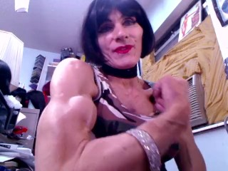 Killer Biceps of Mature Transwoman Fitness Model Alexandria