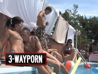 WayPorn INSANE Pool Party Orgy