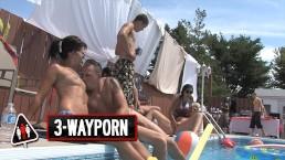 3-WayPorn – INSANE Pool Party Orgy