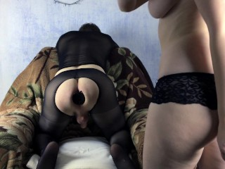 Russian Femdom Blonde Domination makes Extreme Fisting to her Slave ...