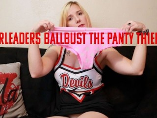 Cheerleaders Ballbust the Panty Thief Jane Cane