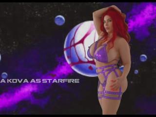 Starfire JOI tit worship by Korina Kova Korina Kova