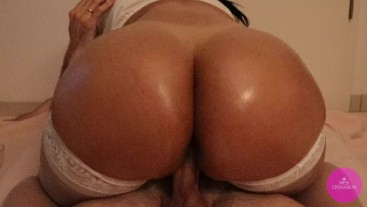 Big ass milf rides big dick with her tight pussy