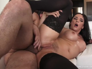 Big Tits Porn Amateur Sheena Ryder Gets Asshole Fucked and Creampied by Tarzan