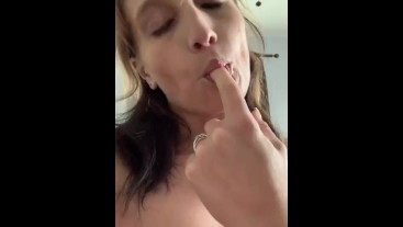 Naught wife does strip tease