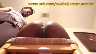 Slim Gives Candi a Playful Spanking in Chair Part 2 of 3 (Get the paddle)