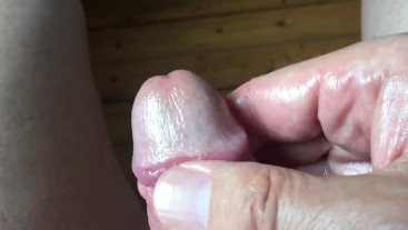 two finger glans massage