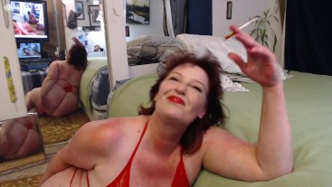 V 302 #Mature #Redhead is  #smokin and #shakin ass for you