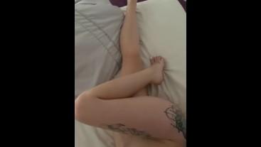 Teasing him and cum on my panties #1 Runnerbean87