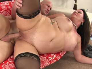 Brunette big boobs gets pounded...