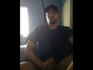 Matteo Milking his Dick