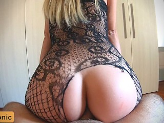 He Cant Resist My Tight Ass and Came Too Early POV Anal Creampie