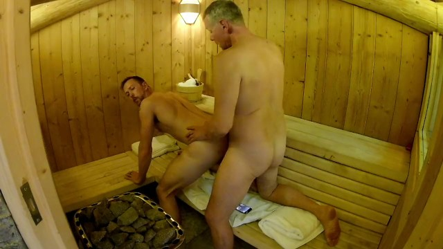 Gay bathouse saunas campgrounds Mature daddy breeds boy in public sauna -- older younger bareback fuck
