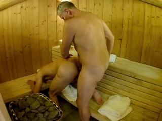 Public sauna strangers fuck – daddy breeds boy